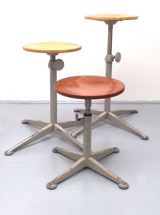Friso Kramer Work Stools | Design SECT | Matt Mitchell London. From Saturday 13th September until Friday 10th October 2014, Design SECT at Alfies will be exhibiting several original Kramer and Rietveld pieces from the 1950s and 1960s.