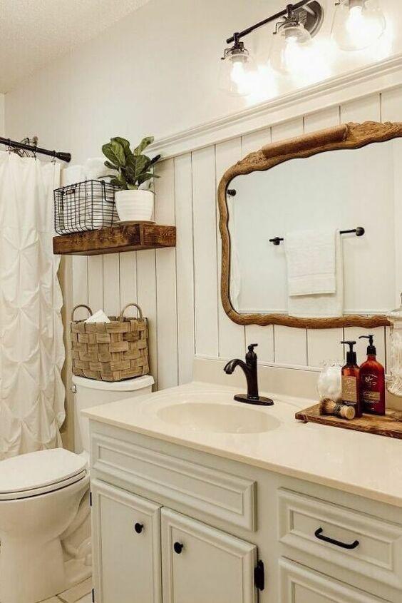 Old Bathroom Farmhouse Makeover Idea Diy On A Budget Cottage Bathroom Old Bathrooms Bathroom Refresh