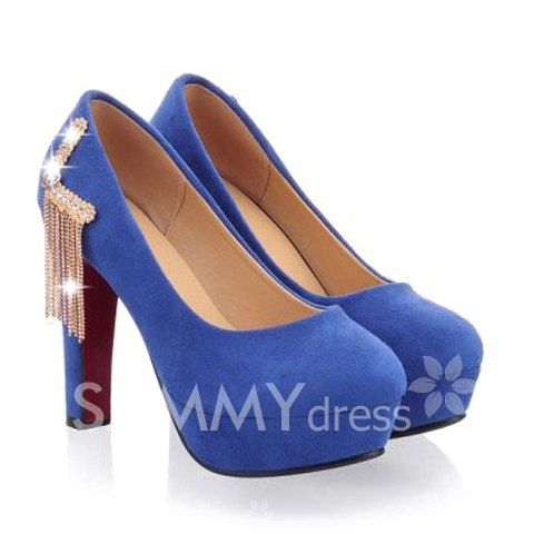 $25.40 Gorgeous Women's Pumps With Rhinestones and Metal Design
