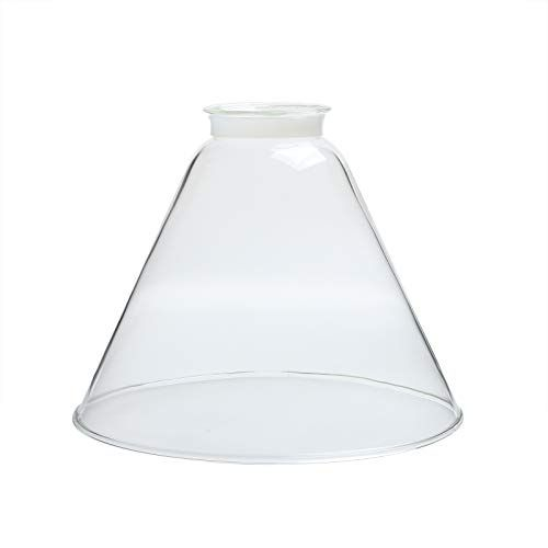 Permo Lighting Fixture Replacement Funnel Flared Clear Gl