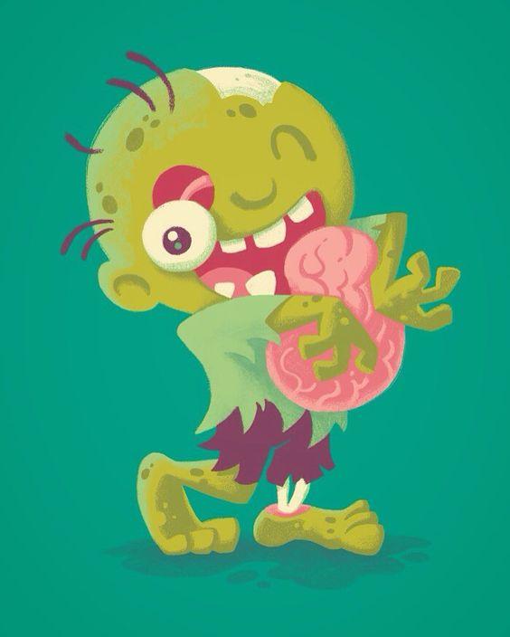 #Zombie #Hugs #Art #Print by @waynem http://bit.ly/2etVPfw #halloween #zombie #brains http://ift.tt/2e4aNbm Follow us on Facebook http://ift.tt/1ZBR6Ym