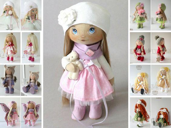 Солнечная кукла Тильда кукла искусство куклы ручная работа розового по AnnKirillartPlace: