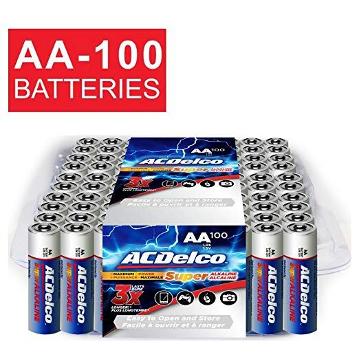 Amazon Aa Batteries Alkaline Battery 100 Count Bulk Pack With Deal 16 20 Reg 22 18 As Of 7 17 2018 3 09 Pm Cdt Alkaline Battery Batteries Acdelco