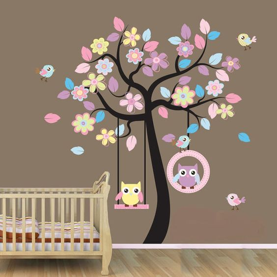 Owl Nursery Decal!! Adorable! Has the link to purchase! --forget putting it in a nursery I want it in my living room!:
