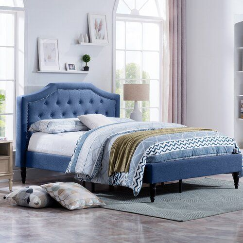 Grovetown Queen Tufted Upholstered Low Profile Platform Bed Upholstered Platform Bed Upholstered Panel Bed Platform Bed