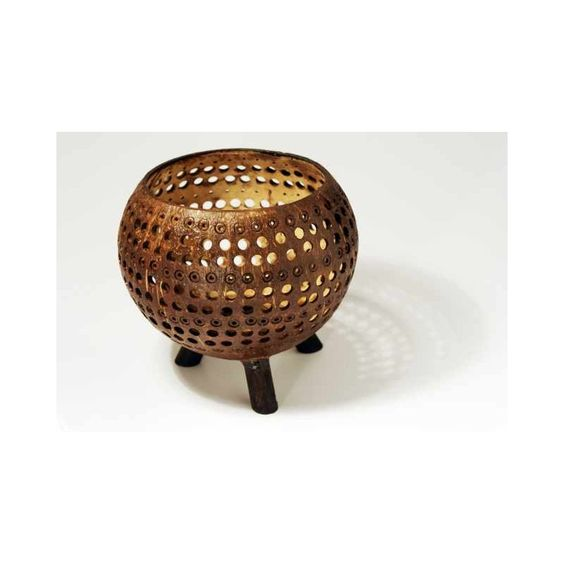 Coconut Candle Stand Hole Design