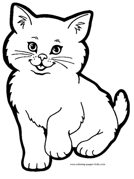 cat color page, animal coloring pages, color plate, coloring sheet ...