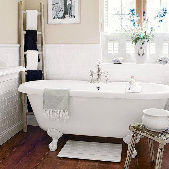 Floor And Decor Bathroom Ideas Fresh Cream Country Bathroom With Dark Floor Decorating In 2020 Wood Floor Bathroom Country Bathroom Wood Bathroom