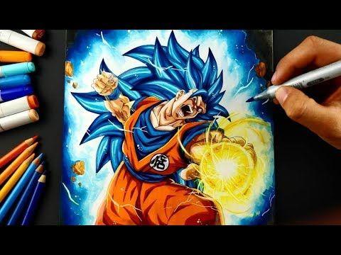 Drawing Goku Super Saiyan Blue 3 Youtube Super Saiyan