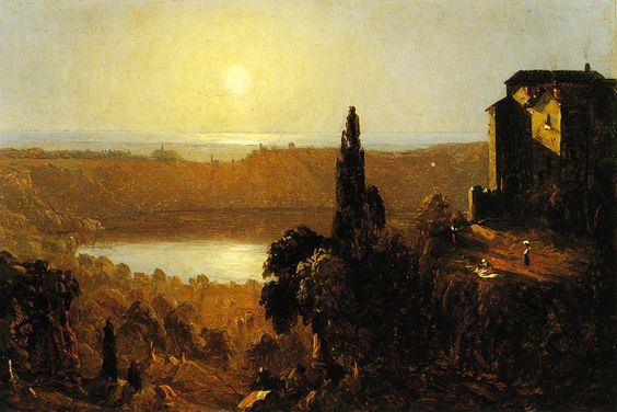 Lake Nemi Sanford Robinson Gifford - 1856