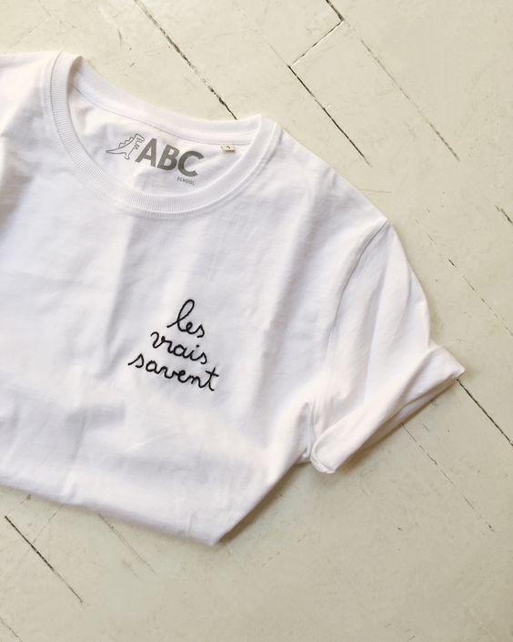 """T-shirt """" Les vrais savent """" via Goodmoods"""