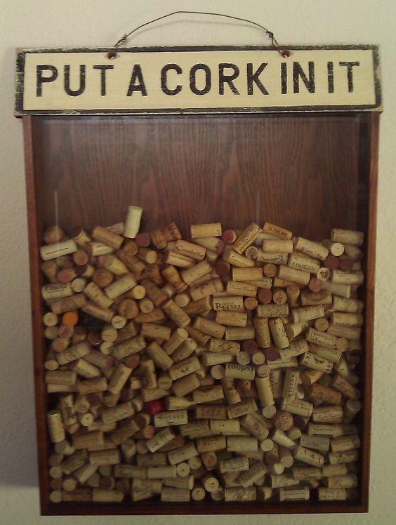 bar backsplash corks great way to decorate while