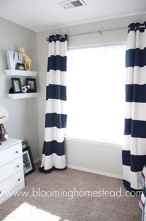 Striped Curtains How To Learning And Roomrhpinterest: Nautical Curtains For Bedroom At Home Improvement Advice