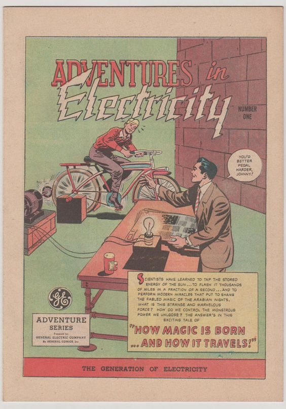 Adventures in Electricity 1. VF . 1945.  by RubbersuitStudios, $55.00 #comicbooks #generalelectric