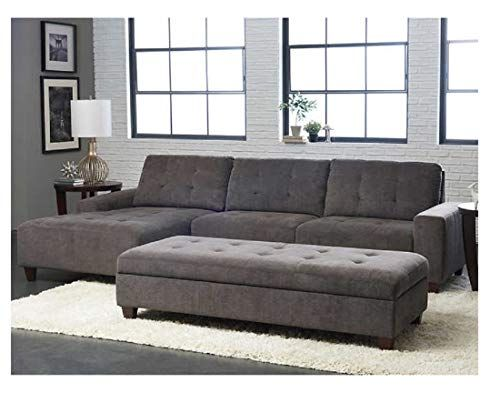 Klaussner Killian Fabric Sectional With Ottoman Fabric Sectional Sectional Sofa Grey Sectional Sofa