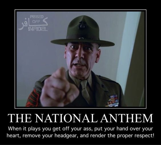 More often during football games - most players are disrespectful during the National Anthem