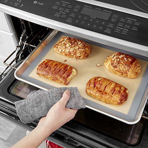 2 Pack Non Stick Silicone Baking Mat Toaster Oven Liner Cookie Sheet 16 5 X 11 5 Silicone Baking Baking Mat Toaster Oven