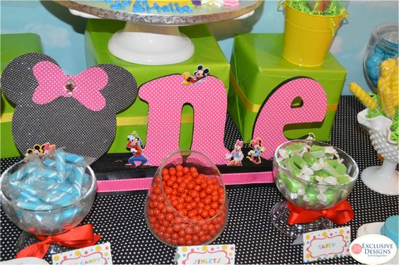 Twins' Mickey Mouse Clubhouse 1st Birthday Party | CatchMyParty.com
