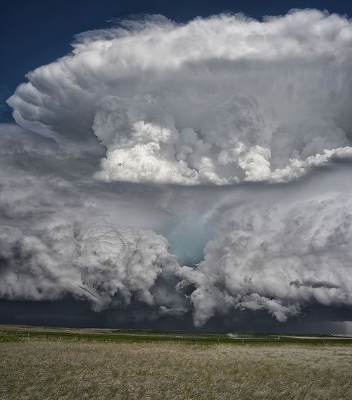Supercell, Storm, Montana, Sunset, Clouds, Huge, Field, Nature ...