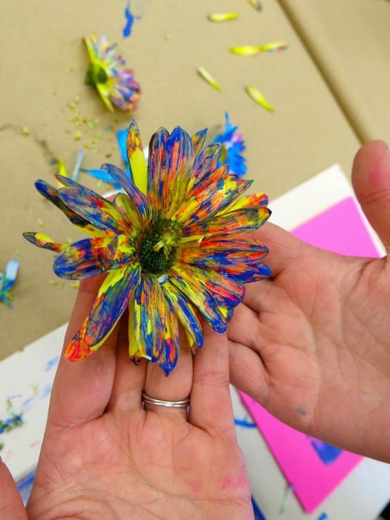 making Andy Warhol Flowers