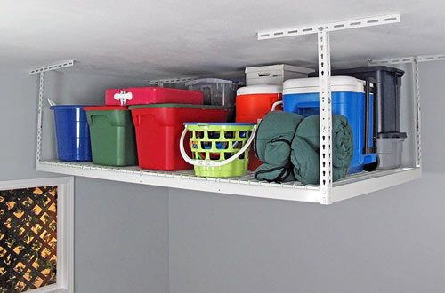 Top 10 Best Ceiling Mount Garage Storage Racks Reviews In 2020 Garage Storage Racks Overhead Storage Rack Overhead Garage Storage