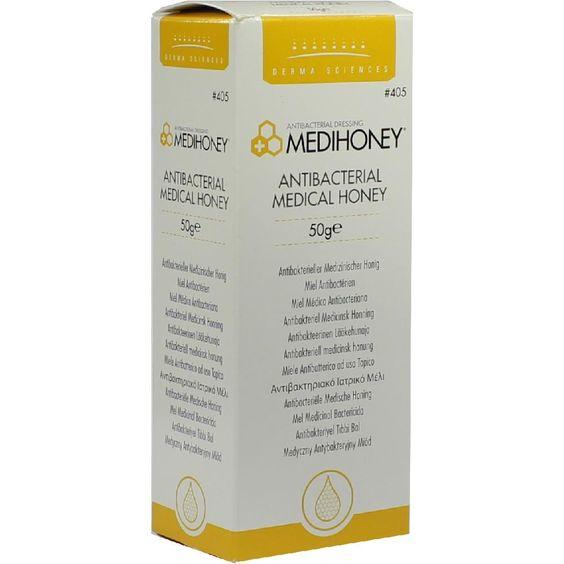 MEDIHONEY Antibakterieller Medizinischer Honig:   Packungsinhalt: 50 g PZN: 01807779 Hersteller: ApoFit Arzneimittelvertrieb GmbH Preis:…