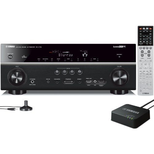 Yamaha RX-V773WA 7.2-Channel Network AV Receiver with wireless adapter by Yamaha. $799.95. From the Manufacturer                          Yamaha RX-V773WA 7.2-Channel Network AV Receiver          Key Features  Network receiver with AV Controller App for iPad/iPhone/iPod and Android phones/tabletsIncluded WiFi Adapter makes network control a breeze 7.2-Channel Powerful Surround Sound with 110W per Channel  Apple Airplay Allows Streaming Music to AV ReceiverHD Audio format decodi...