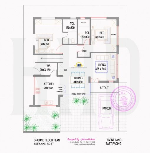 Best Small Plot Villa In 2 75 Cents Of Land Kerala Home Design And