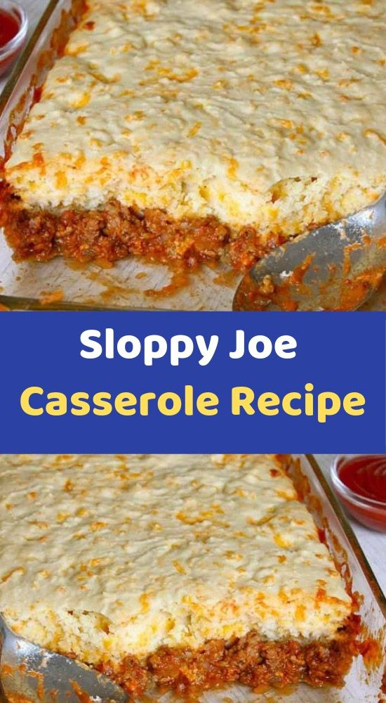 Sloppy Joe Casserole Recipe Ingredients 1 1 2 Pounds Lean Ground Beef 1 Large White Onion Diced Stuffing Recipes Recipes Easy Slow Cooker Chicken
