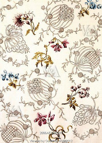 Textile design, by Anna Maria Garthwaite (1690-1763). Watercolour. Spitalfields, London, c.1751.