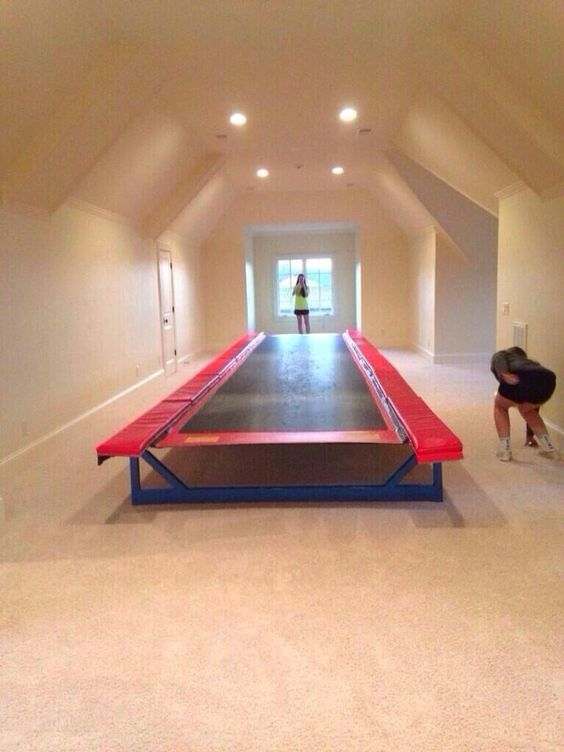 Indoor trampoline-this isn't a want, it's a need!!!!!!!!