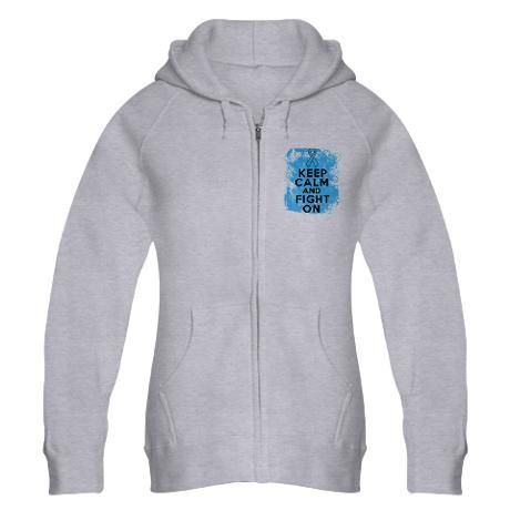 Prostate Cancer Keep Calm Fight On Zip Hoodie
