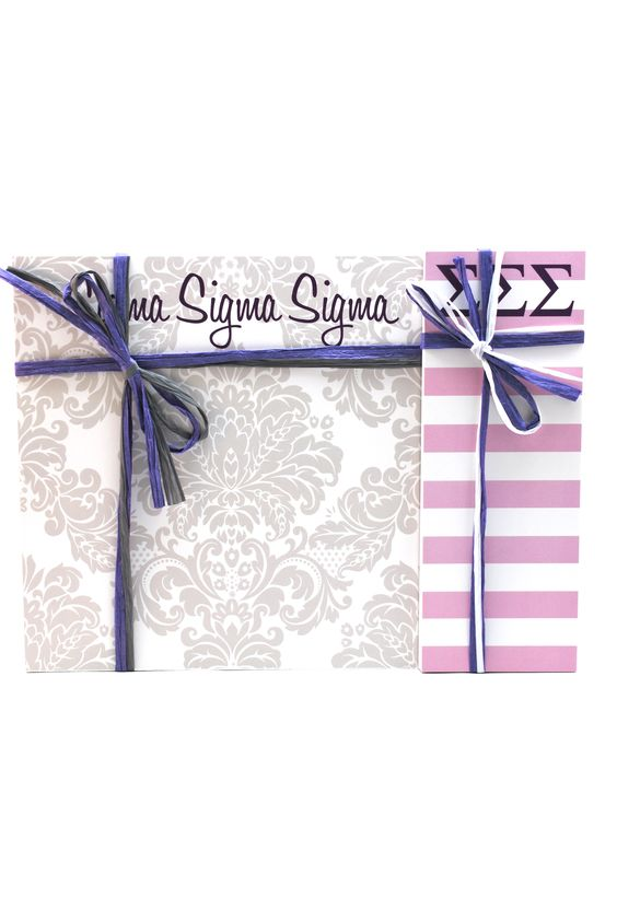 "Sigma Sigma Sigma 3"" x 8"" and 8"" x 8"" Note Pads"