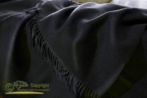 Edles Schwarzes Wollplaid Von Ritter Wolldecke Schwarz 100 Merino Lammwolle 130x180cm Wolldecke Decke Edel