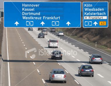 My brother drove us to Rochenhausen via tha famous German autobahm with no speed limits