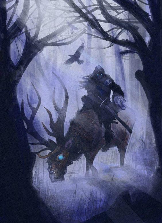 Él es Manosfrias, ayuda a Bran a llegar con el último Verdevidente. No puede pasar el muro por magia que lo protege. du