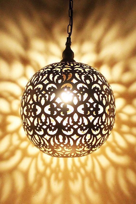 Orientalische Lampe Pendelleuchte Silber Arpana 40cm E27 Lampenfassung Marokkanische Design Hangeleuchte Leuch Orient Lampe Orientalische Lampen Hangeleuchte