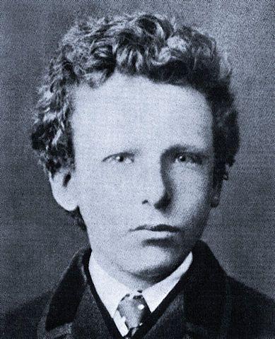 Van Gogh, con 13 años durante 1816. Vivió 37 años. Van Gogh at age 13. Lived 37 years.