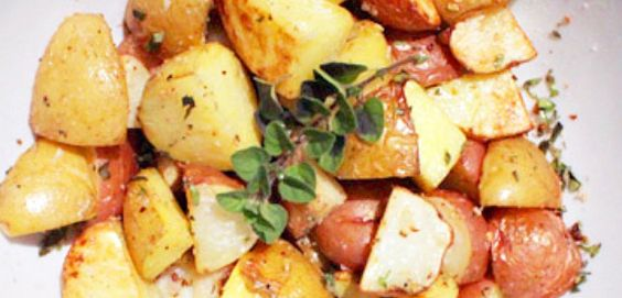 Oven Roasted Potatoes with Garlic and Oregano