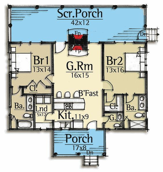 Plan 18741ck Vacation Cabin With Vaulted Ceilings Basement House Plans Small House Floor Plans Tiny House Cabin
