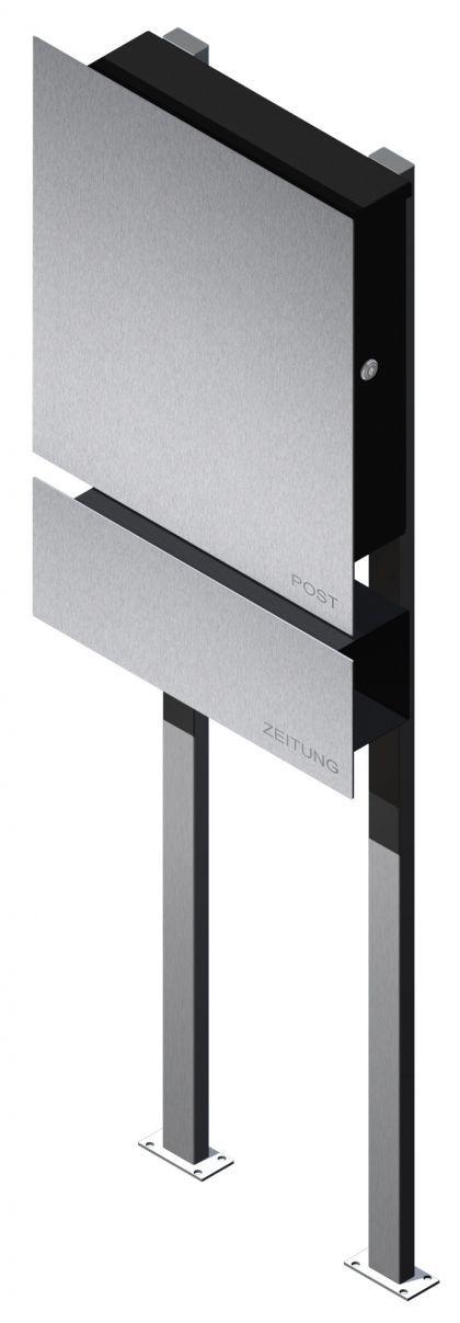 Briefkasten Edelstahl Zeitungsbox freistehend bei z-e-d  Susan Richter kaufen (Yatego Produktnr.: 4bc59d0d98290)