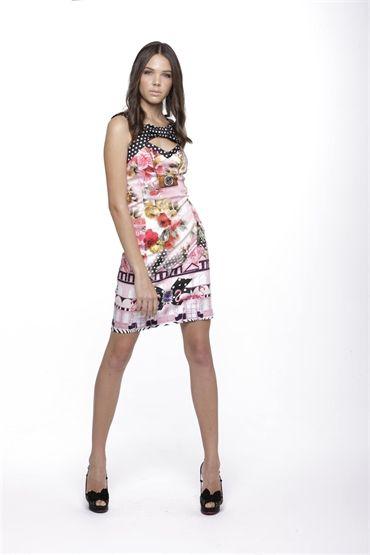 New Season Fehu On Holiday Flamingo Polka Dot With A Twist Dress 52314