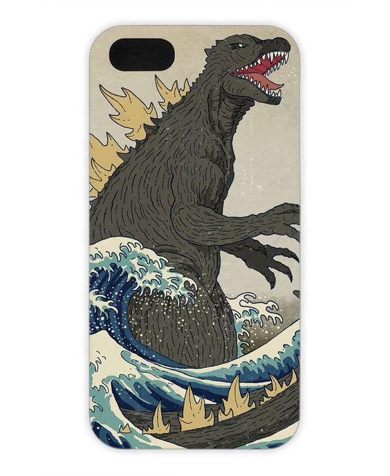 The Great Godzilla off Kanagawa als iPhone 5C Hülle von DinoMike | JUNIQE