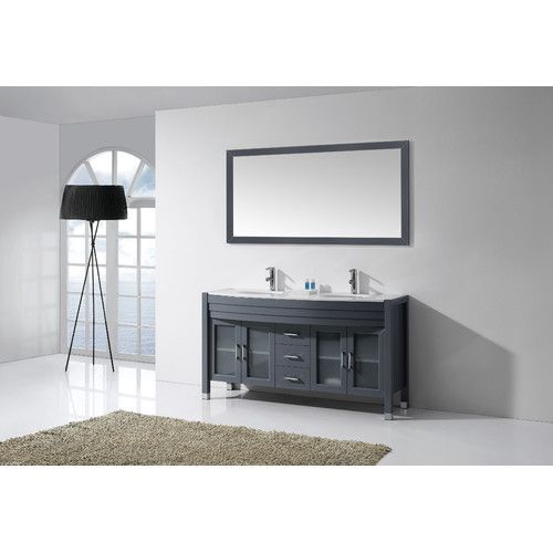 Cool Kitchen Bath And Beyond Tampa Tiny Decorative Bathroom Tile Board Clean Bathroom Suppliers London Ontario Good Paint For Bathroom Ceiling Old Bathroom Vanities Toronto Canada BlackReviews Best Bathroom Faucets Found It At Wayfair   Ava 63\u0026quot; Double Bathroom Vanity Set With ..