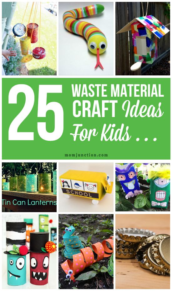 25 creative out of waste material crafts for kids crafts for Craft out of waste
