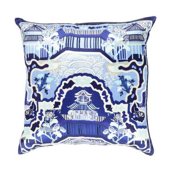 Surya Ge 013 Square Indoor Decorative Pillow With Down Or Polyester Throw Pillows Blue Pillows Decorative Square Throw Pillow