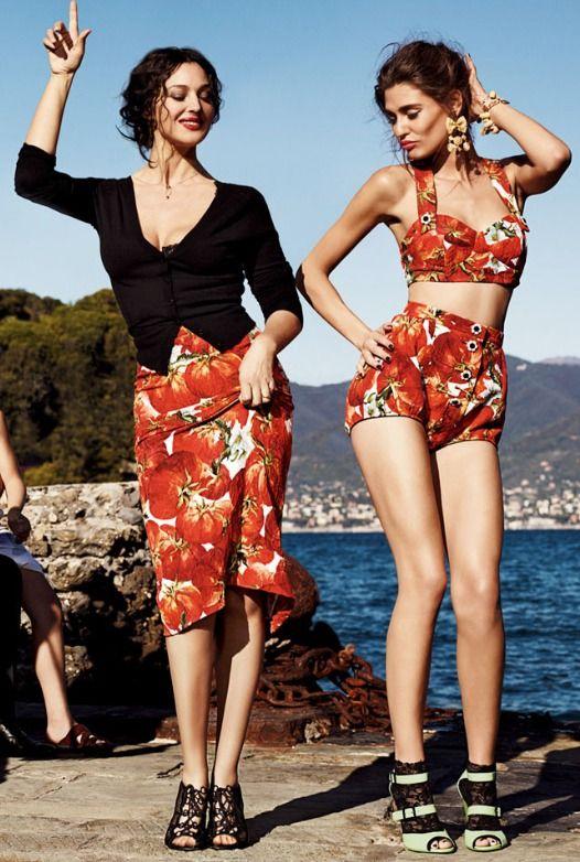 Monica & Bianca    'Italian Family' S/S 2012 Dolce & Gabbana: