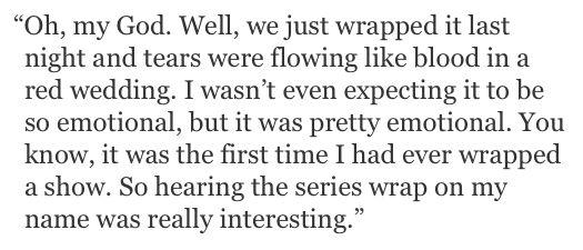"""[QUOTE] @chriscolfer on wrapping """"Glee"""""""