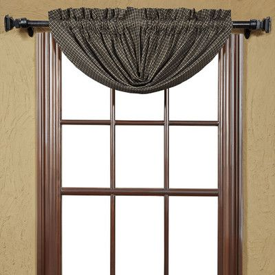 VHC Brands Kettle Grove Plaid Balloon Lined Curtain Valance