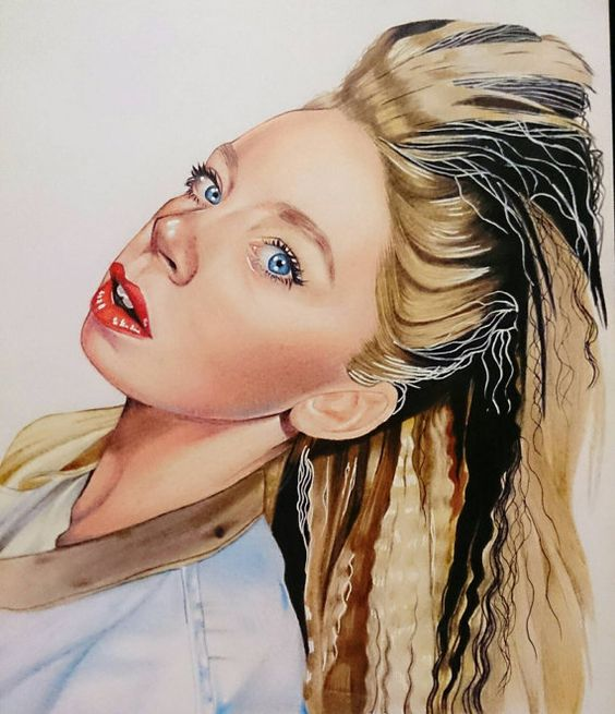 Original 8 x 11 Grav3yardgirl drawing by AshDPortraits on Etsy